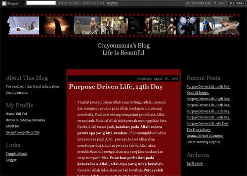 Movie Blog Template, Movie Box
