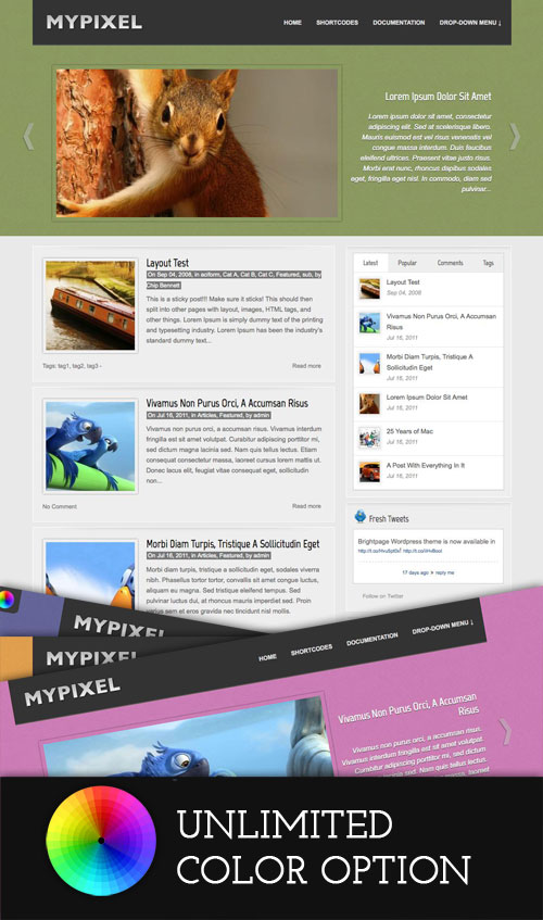 Mypixel WordPress Theme