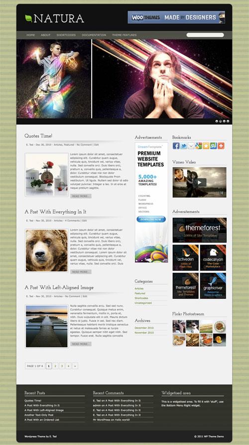 Natura WordPress Theme