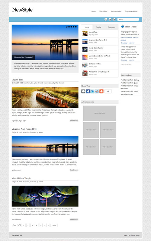 NewStyle WordPress Theme