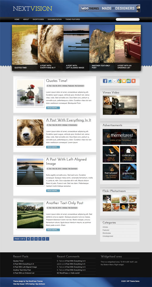 Nextvision WordPress Theme