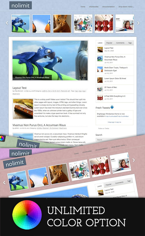 Nolimit WordPress Theme