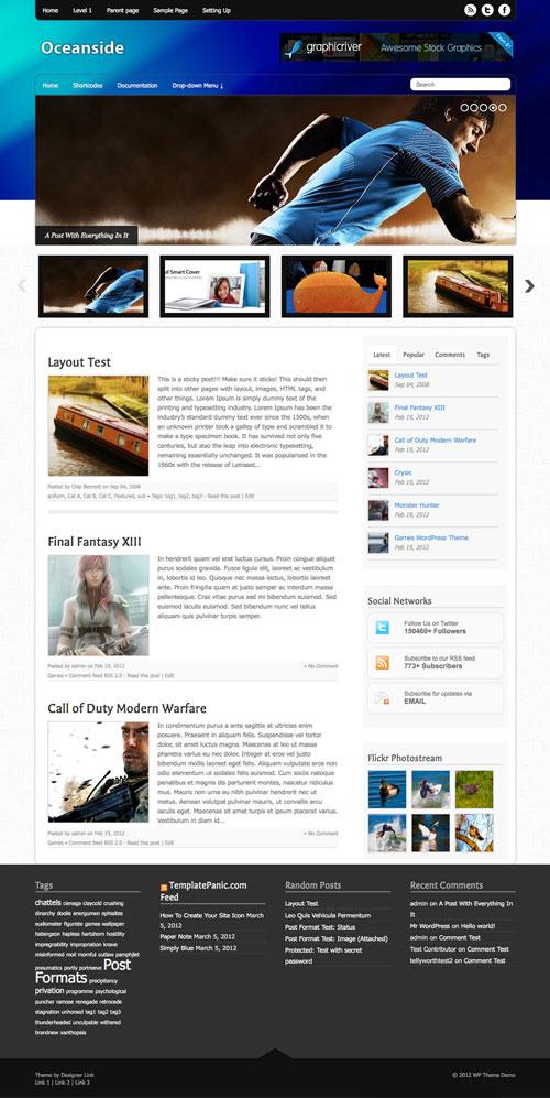 Oceanside WordPress Theme