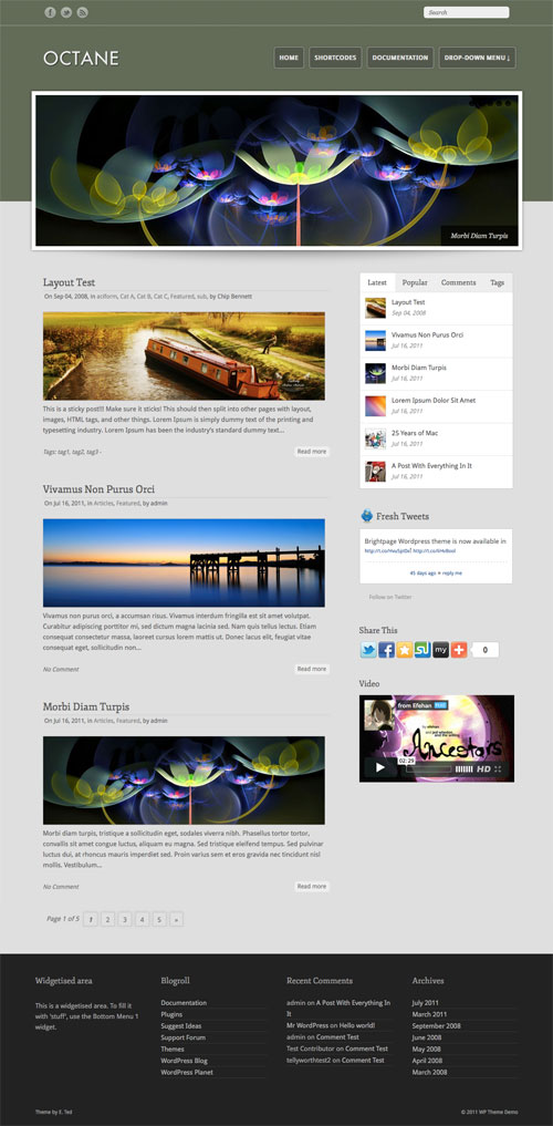 Octane WordPress Theme