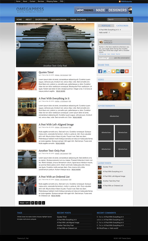 Omegapress WordPress Theme