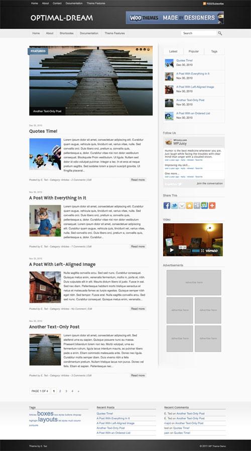 Optimal-Dream WordPress Theme
