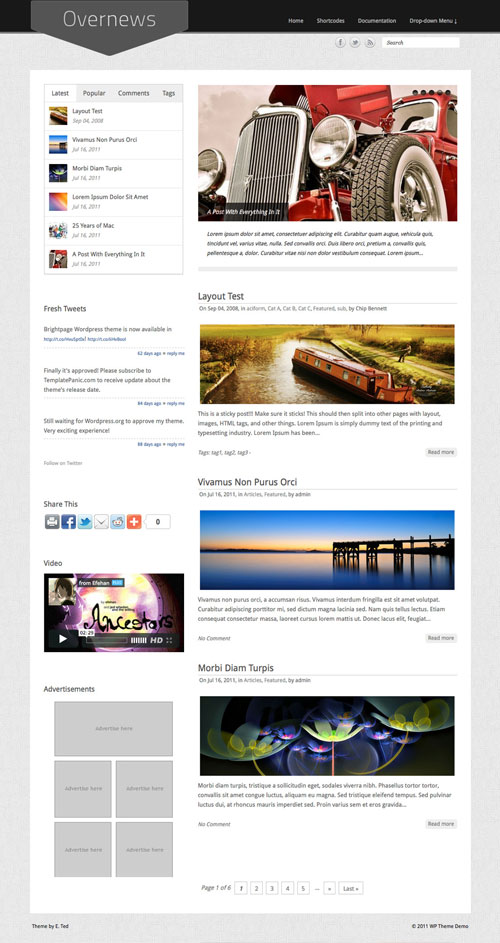Overnews WordPress Theme
