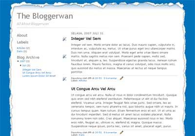 Paper Border Blogger Template