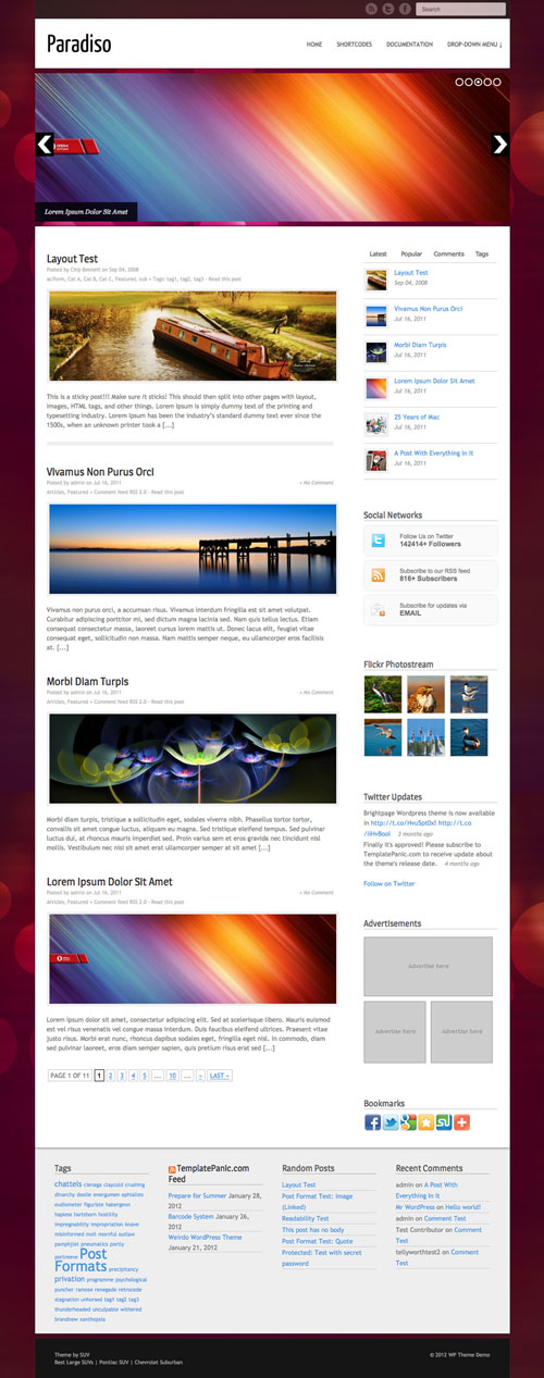 Paradiso WordPress Theme