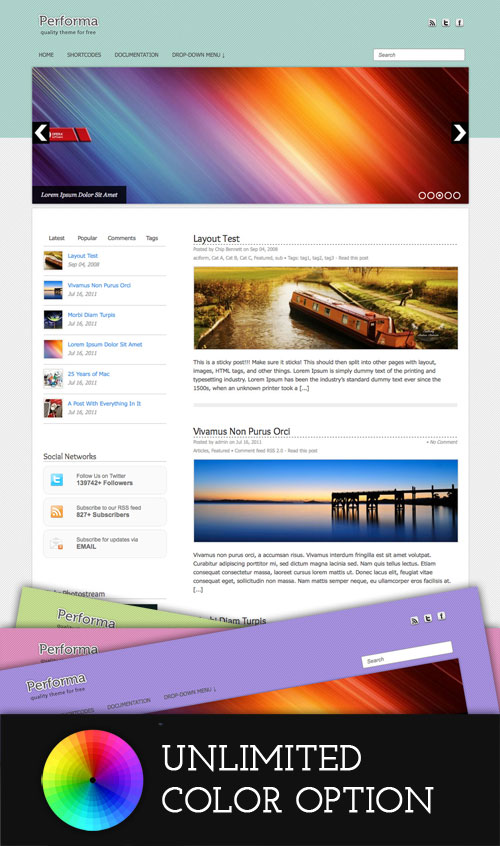 Performa WordPress Theme
