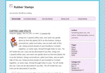 Perfume, A Clean WordPress Theme