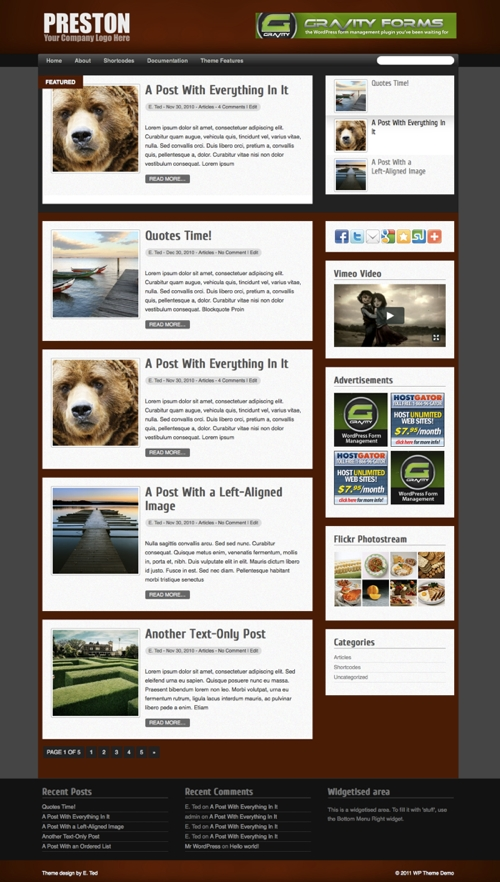 Preston WordPress Theme