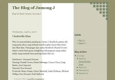 Army Color Theme For New Blogger