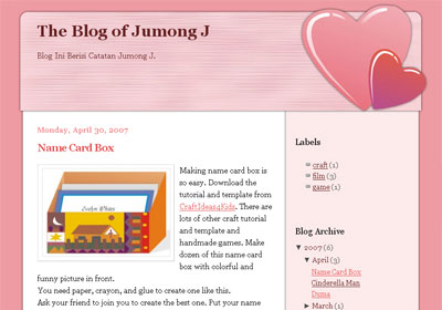 Can You Feel The Love, A Theme For New Blogger