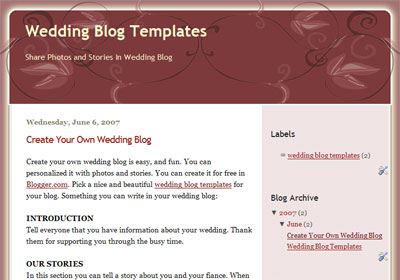 Blogger Template – Ornament Theme