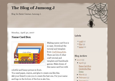 Spider Web Theme For New Blogger