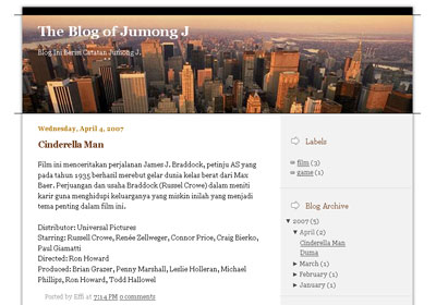 City View Template For New Blogger