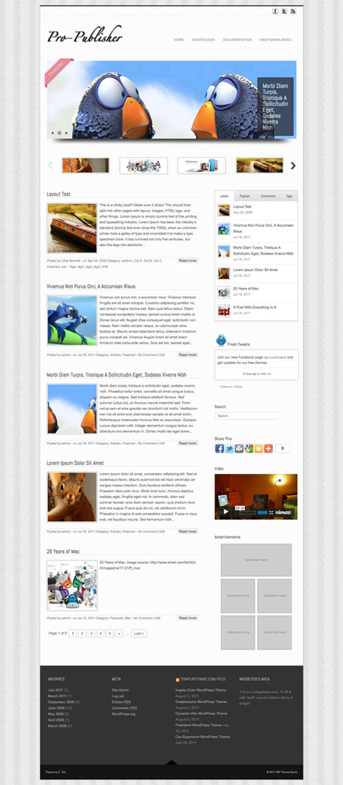 Pro-Publisher WordPress Theme