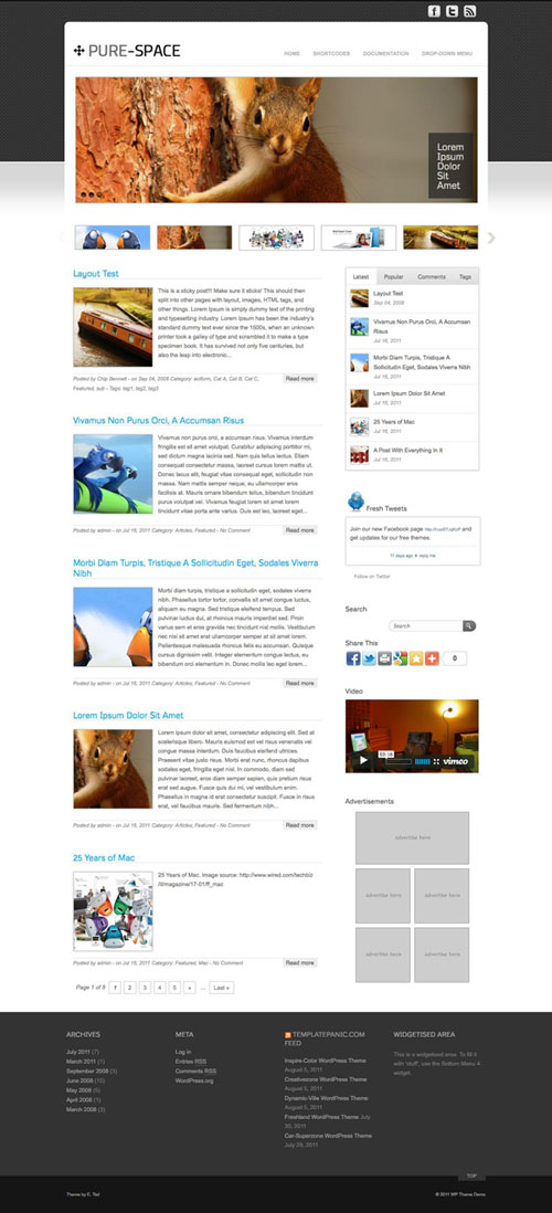 Pure-Space WordPress Theme