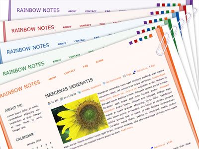 Rainbow Notes WordPress Theme