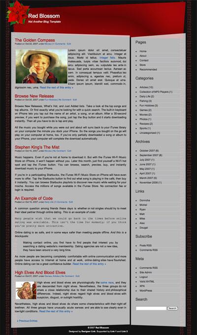 Red Blossom WordPress Theme