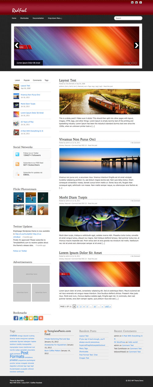 RedFeel WordPress Theme