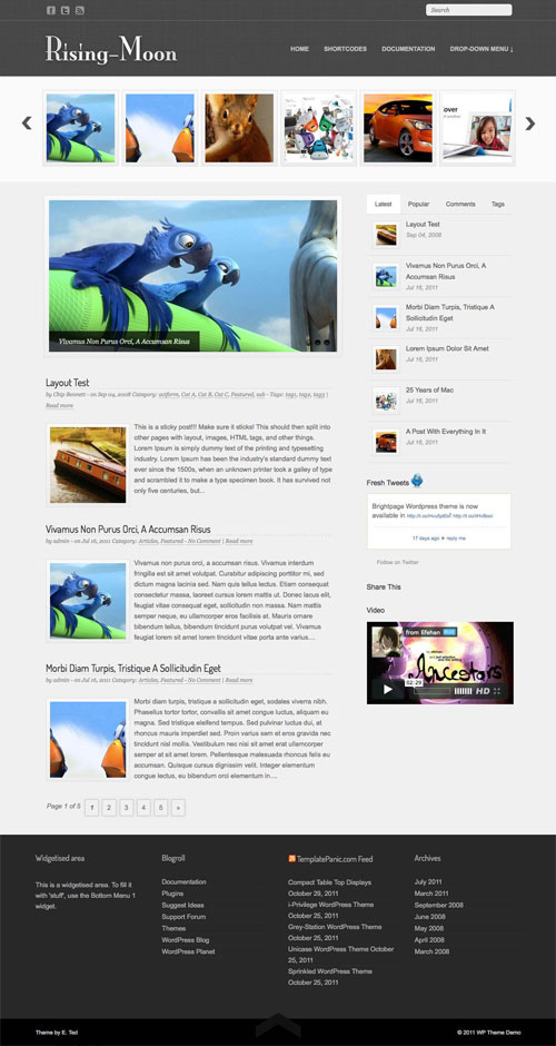 Rising-Moon WordPress Theme