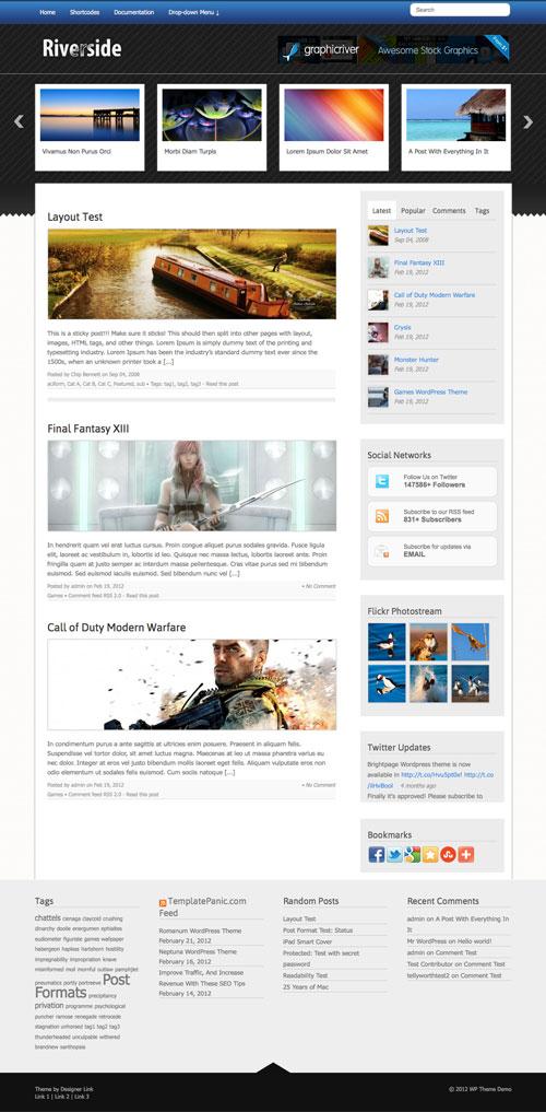 Riverside WordPress Theme