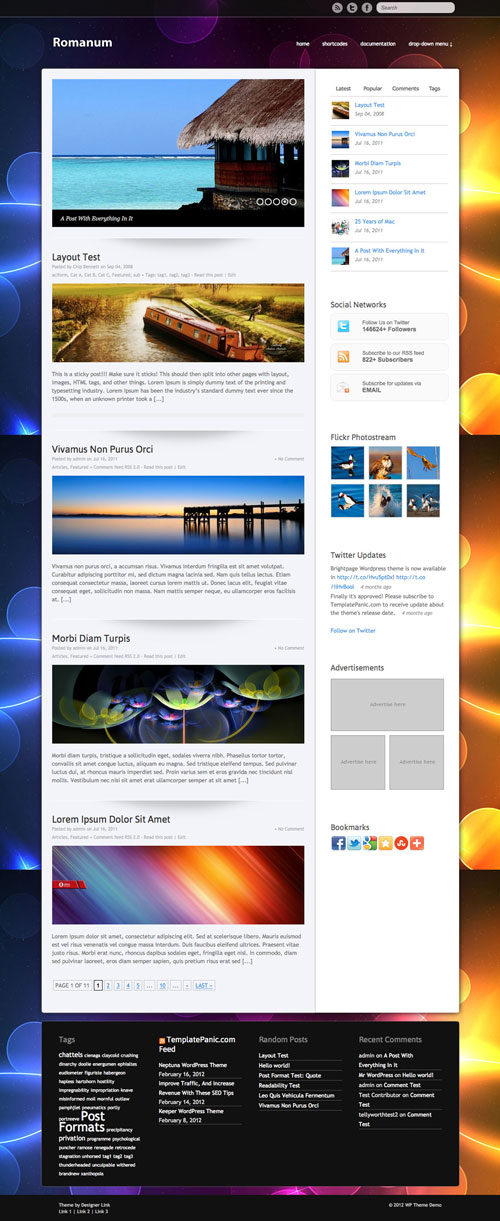Romanum WordPress Theme