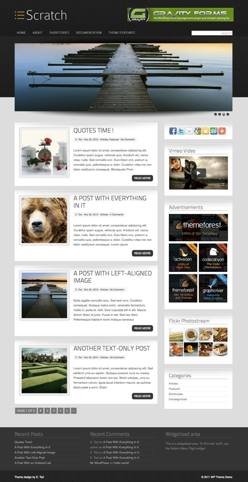 Scratch WordPress Theme