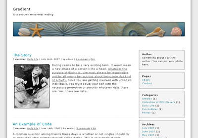 Sea Star WordPress Theme