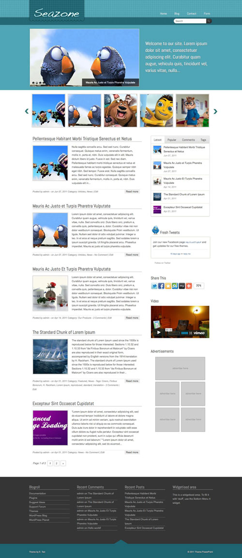 Seazone WordPress Theme