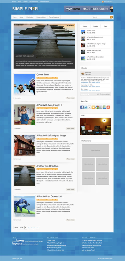 Simple-Pixel WordPress Theme