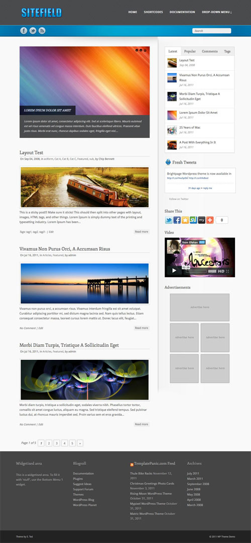 Sitefield WordPress Theme