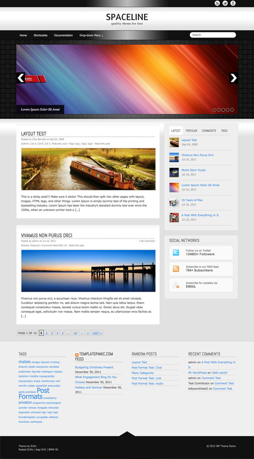 Spaceline WordPress Theme