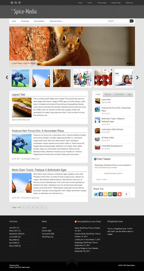 Spice-Media WordPress Theme
