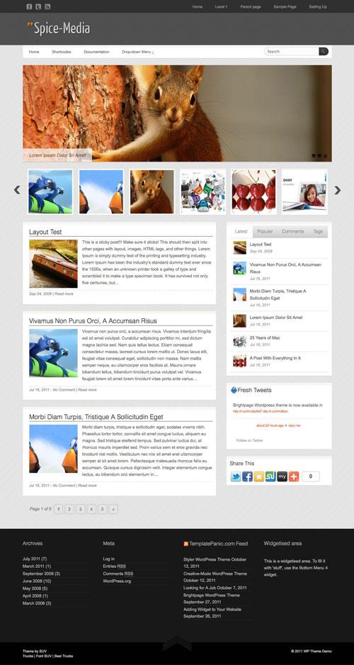 Spice-Media WordPress Theme