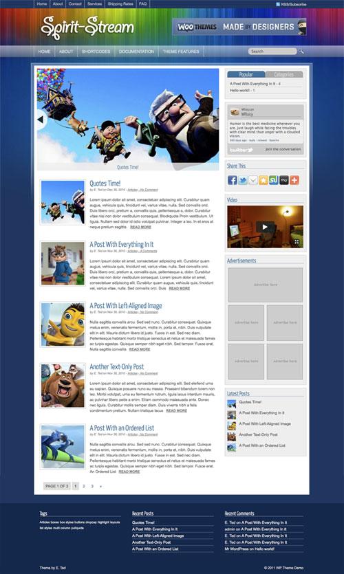 Spirit-Stream WordPress Theme