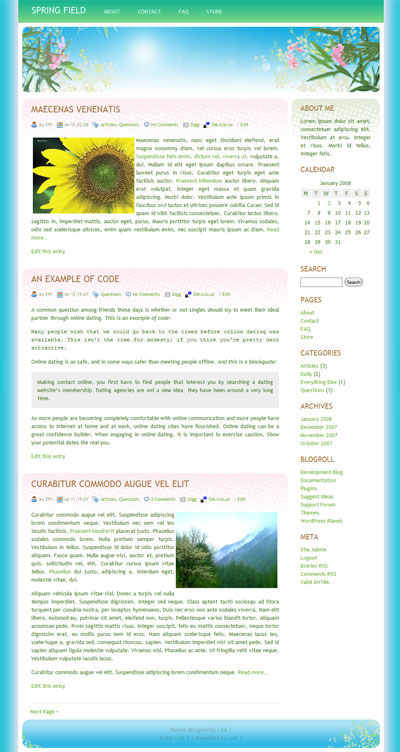 Spring Field WordPress Theme