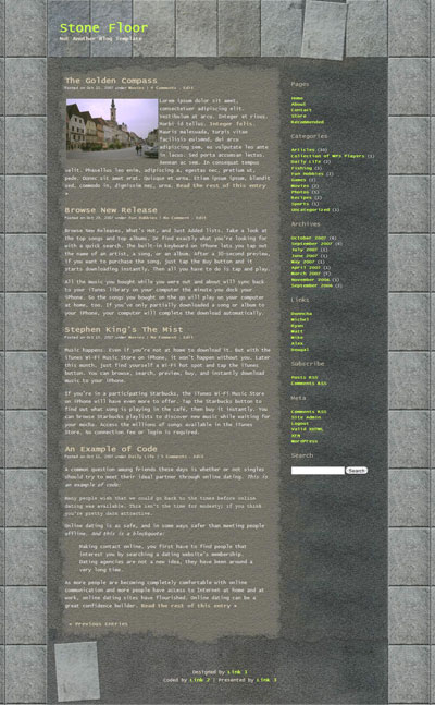 Stone Floor WordPress Theme