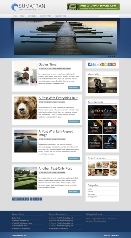 Sumatran WordPress Theme
