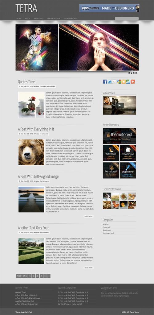 Tetra WordPress Theme