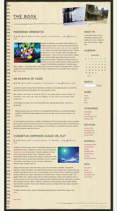 The Book WordPress Theme