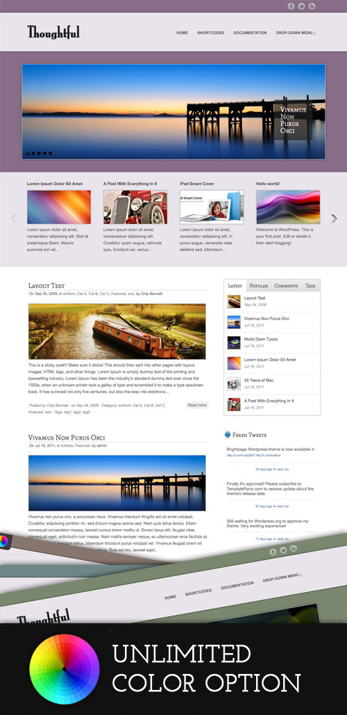 Thoughtful WordPress Theme