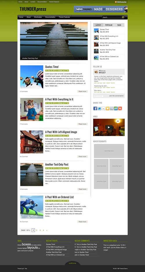 Thunderpress WordPress Theme
