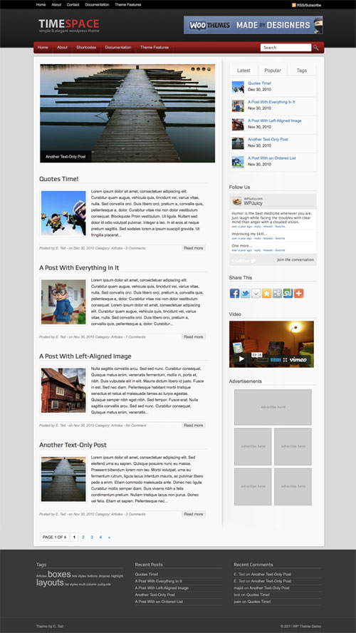 Timespace WordPress Theme