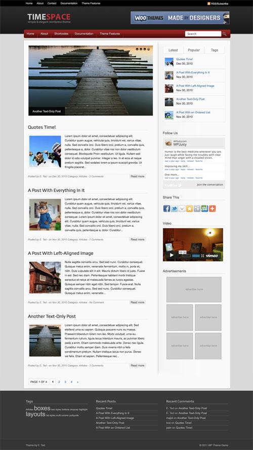 Timespace WordPress Theme