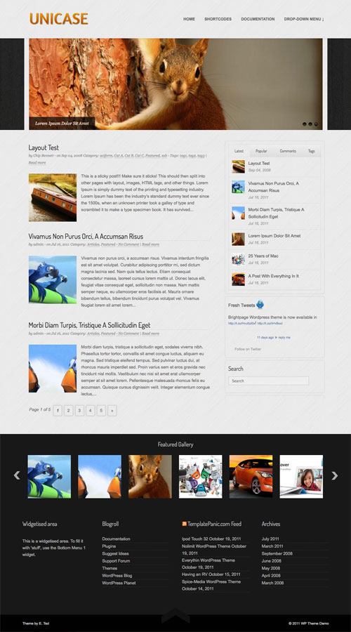 Unicase WordPress Theme