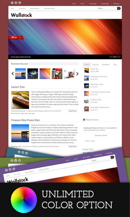 Wallstock WordPress Theme