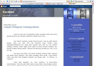 2 Column Blogger Template: Water 1024